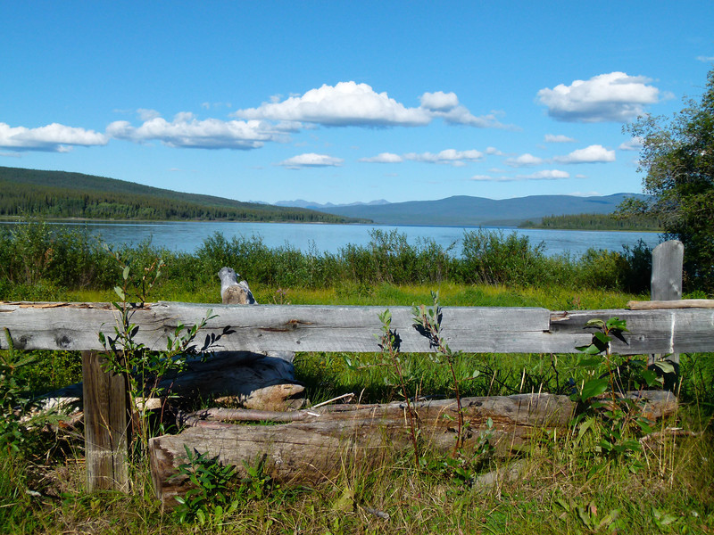 lake near Teslin Yukon on the Alaska Highway