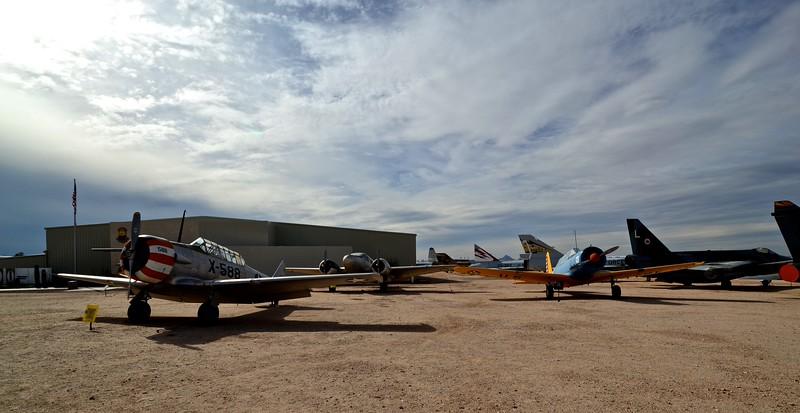 "The ""flightline"" at Pima Air & Space Museum"
