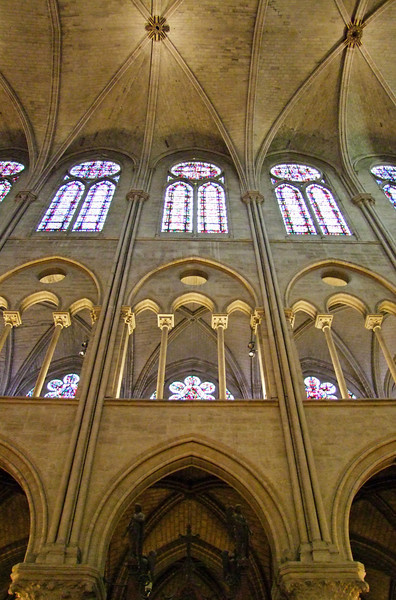 Upper side wall of Notre Dame Cathedral