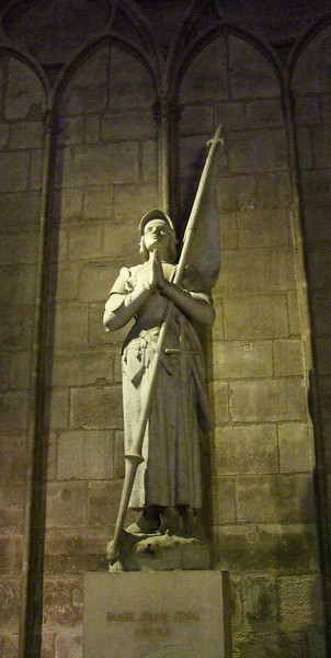 Joan of Arc (1412 - 1431) a heroine in France.  Burned at the stake but now a Saint.
