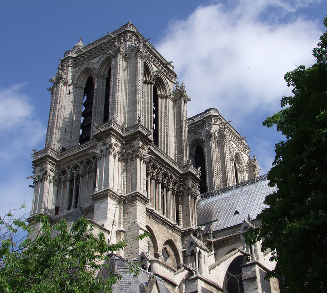 The bell towers of Notre Dame have tolled for important events in France.  We heard them on a Sunday morning.