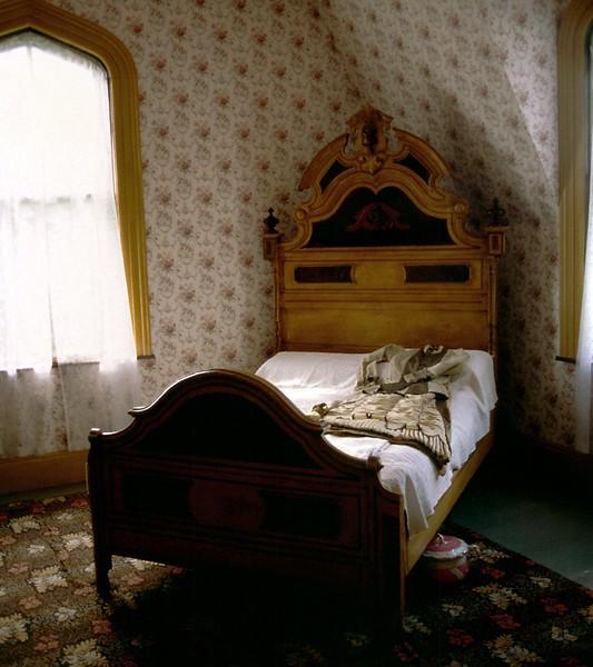 House - bedroom, Sherbrooke Village, Nova Scotia, 8/04