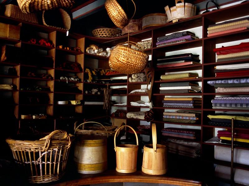 Dry goods store interior, Sherbrooke Village, Nova Scotia, 8/04