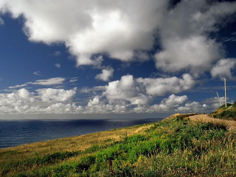 View of coast near Red River,, Cape Breton Island, Nova Scotia, 8/04