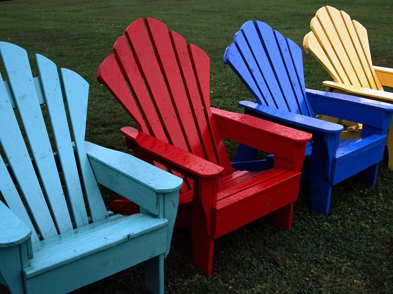 Adirondack chairs. Keltic Lodge near Ingonish, Nova Scotia, 2004