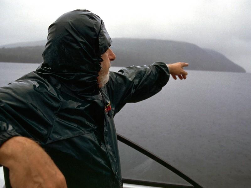 David Lougheed on his boat near Saint Anns, Nova Scotia, 8/04