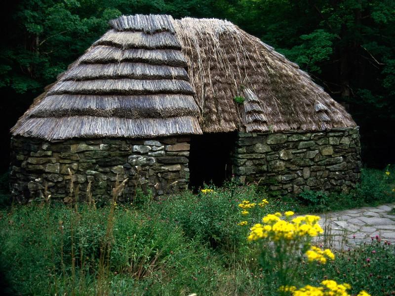 Crofters Hut, Lone Shieling Trail, Cape Breton Highlands National Park, Nova Scotia, 8/04