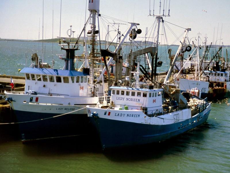 Boats at dock, Yarmouth, Nova Scotia, 8/04