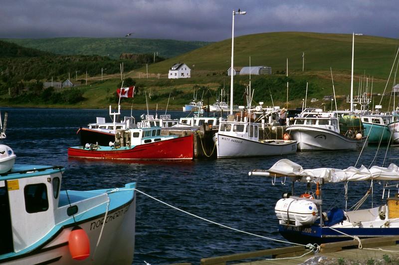 Boats at North Harbour, Cape Breton Island, Nova Scotia, 8/04