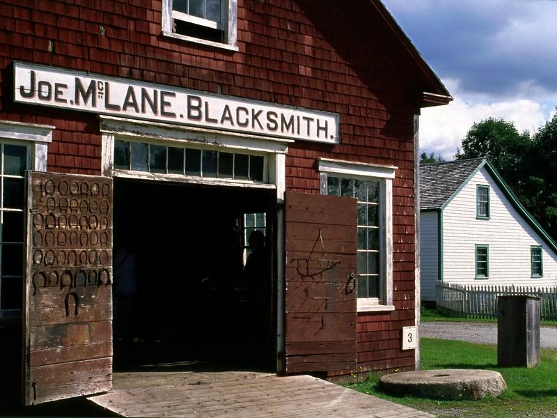 Blacksmith Shop, Sherbrooke Village, Nova Scotia, 8/04