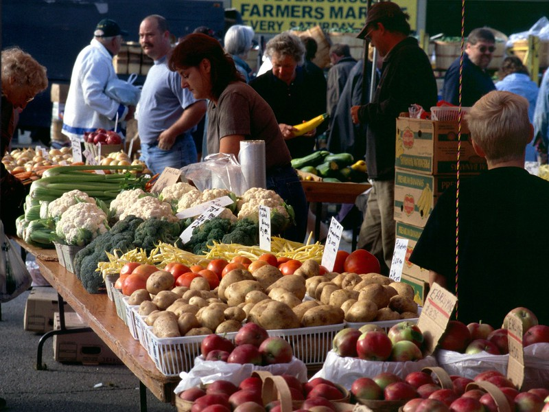 Farmers market, Peterborough, Ontario, 8/04