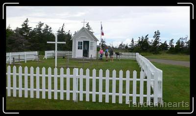The first Acadian graveyard on Nova Scotia.