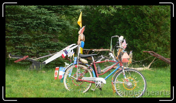 A bit of bicycle art.