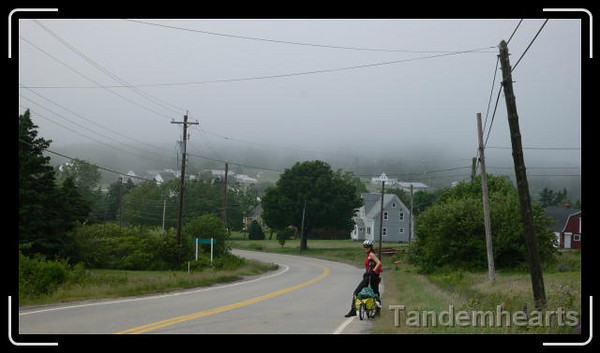 Cindy on the way to Church Point, NS.