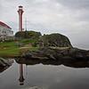 Lighthouse at Cape Forchu, Nova Scotia, Canada