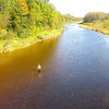 Fly Fisherman trying for Atlantic Salmon