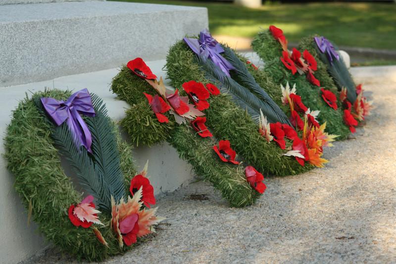 At a WW1 war memorial in Lunenburg.
