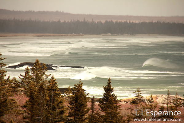 Waves breaking at Kejimkujik's Seaside Adjunct (Parks Canada) near Port Joli, Nova Scotia.
