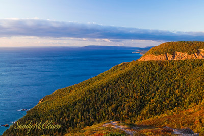 Cape Smokey on the Cabot Trail in Cape Breton, at sunrise.