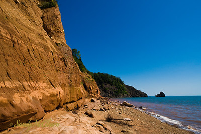 On the beach at Five Islands Provincial Park on the Bay of Fundy.