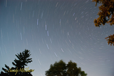 A long exposure taken of the stars in the sky over our camp site.