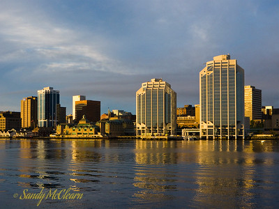 Halifax Waterfront just after sunrise.