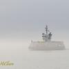 Halifax Transit ferry in the fog.
