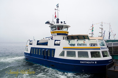 One of the harbour ferries waits for passengers to board at the Halifax Ferry Terminal.