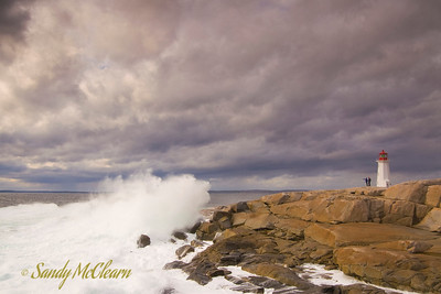 Crashing surf at Peggy's Cove, NS.
