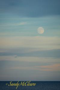 Moon rise at White Point Beach, Nova Scotia.