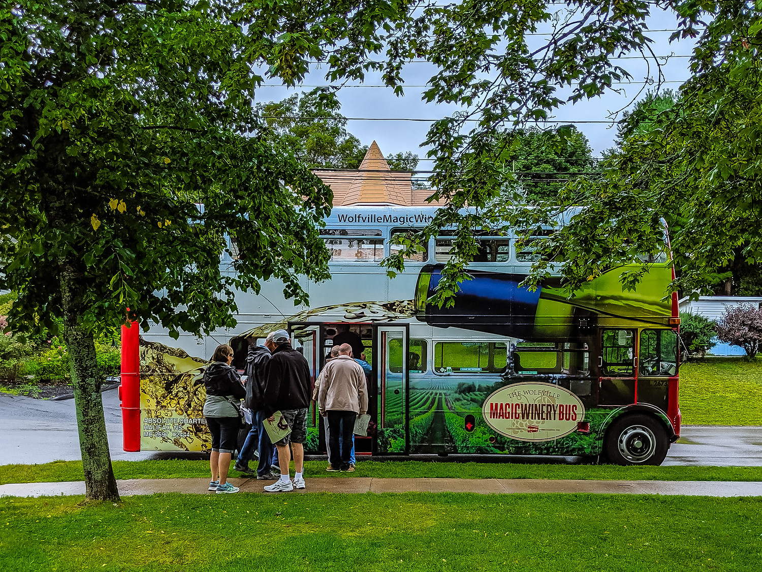 Magic Wine bus in Wolfville Nova Scotia Canada