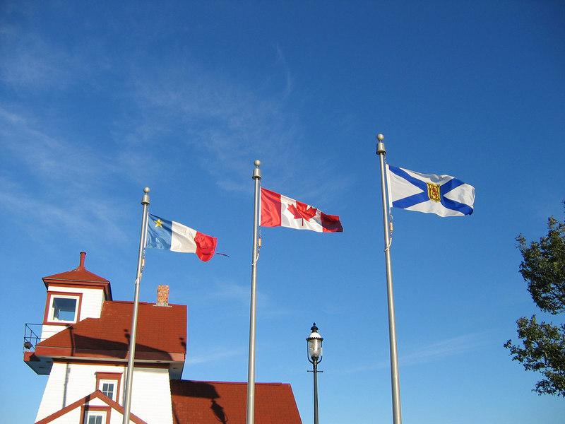Flags... somewhere in Nova Scotia