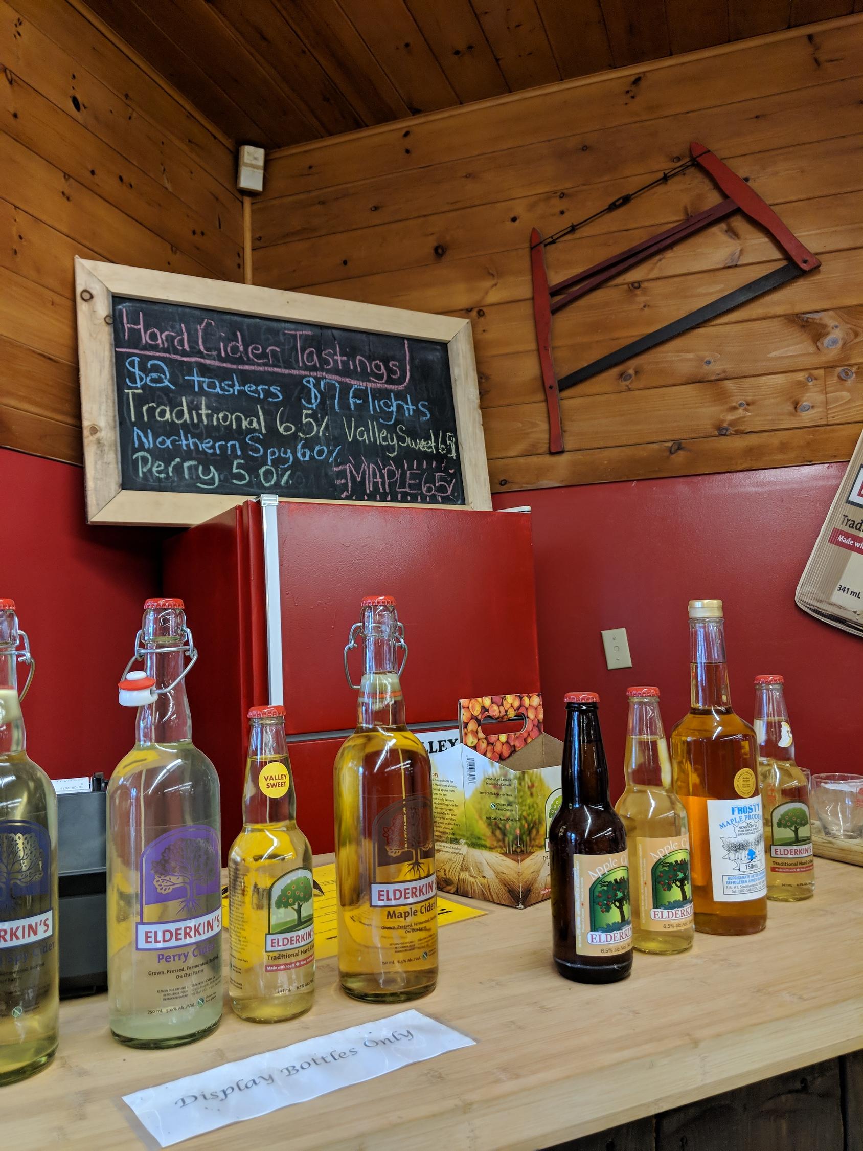 Nova Scotia hard cider from Elderkins Farm Market