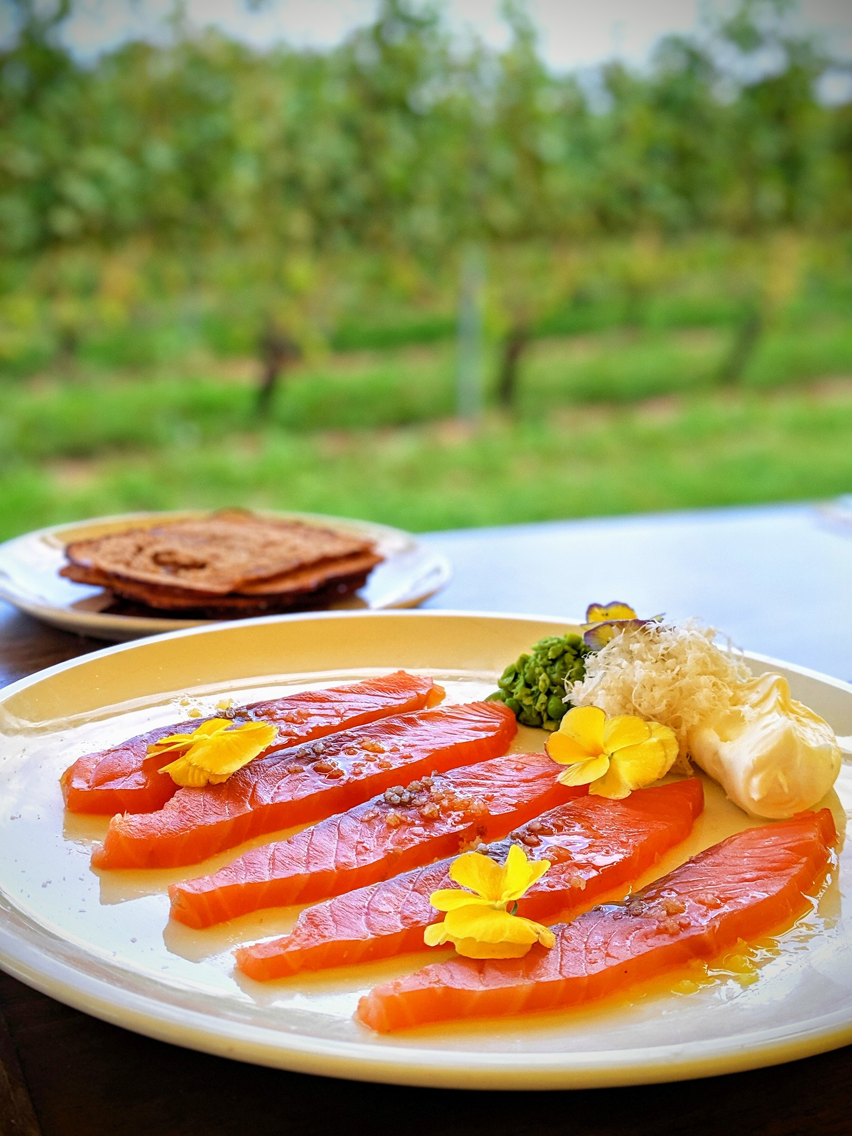 Cured salmon at Lightfoot and Wolfville winery restaurant in Nova Scotia.