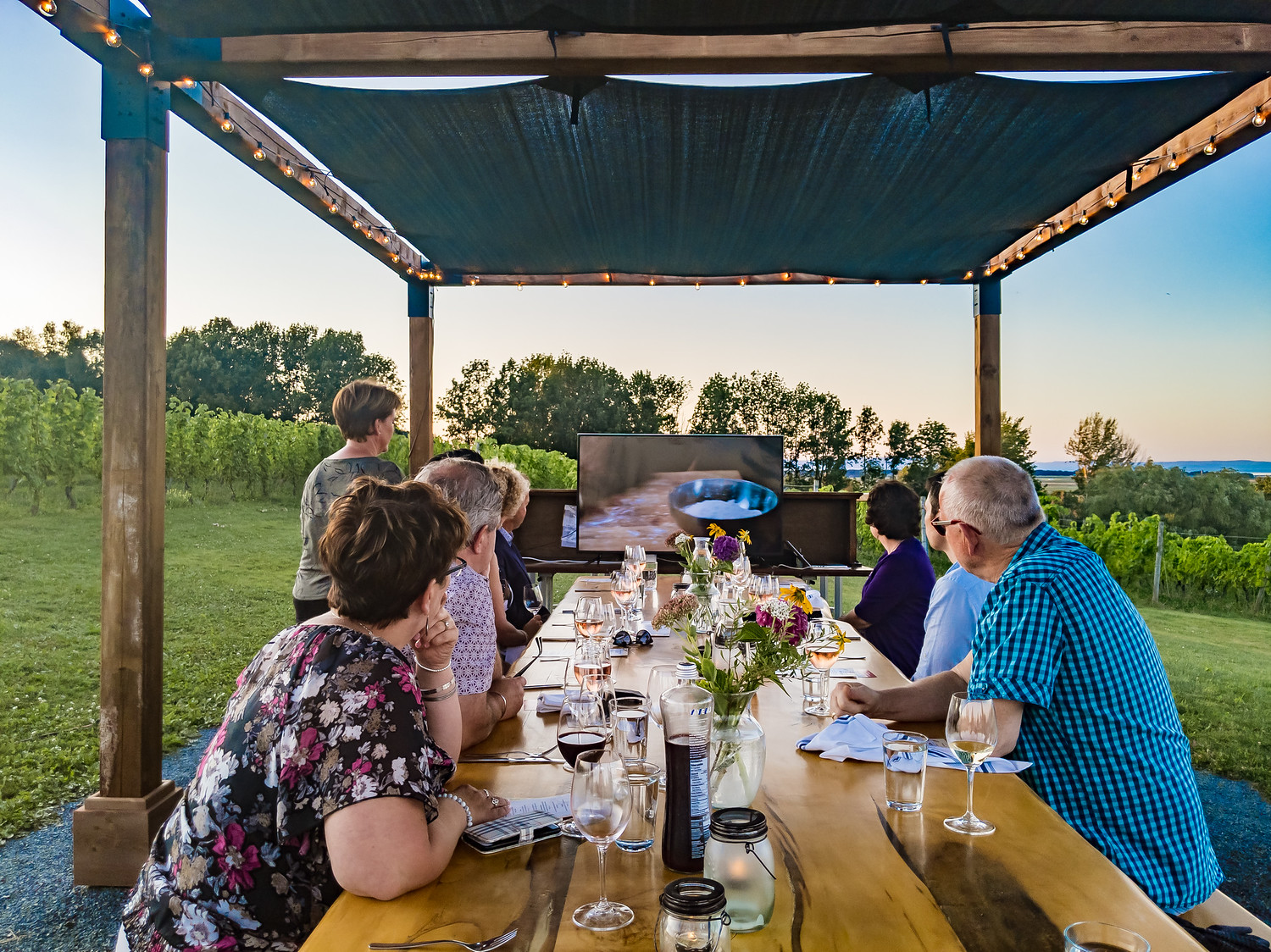 Devour the Vines event at Domain de Grand Pre in Nova Scotia
