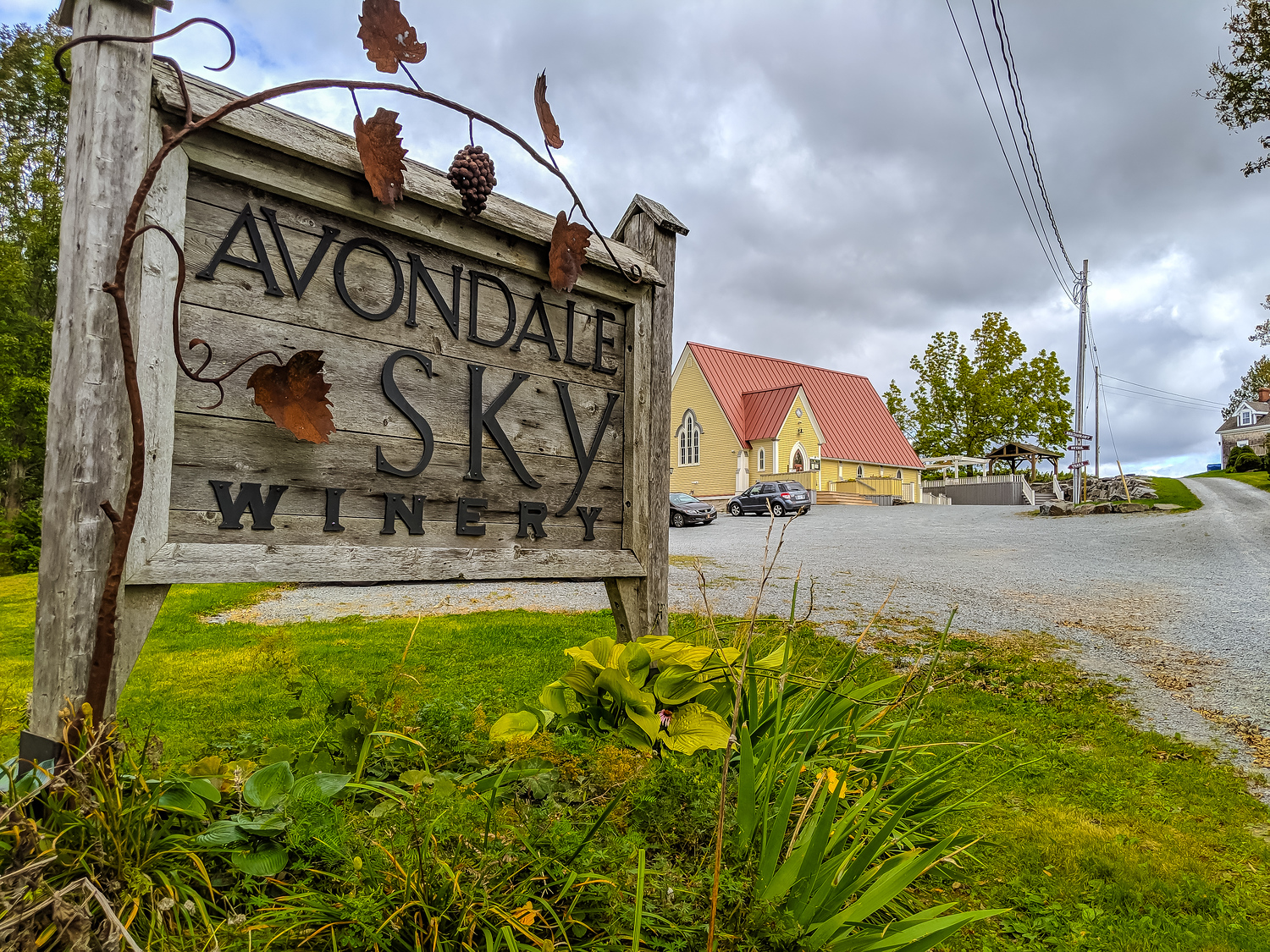 Avondale Sky Winery exterior, one of the most popular spots to drink wine in Nova Scotia.