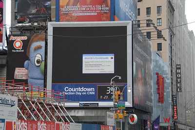 Windows error on one of the billboards in Times Square