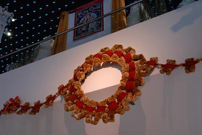 Stuffed bear wreath in F.A.O. Schwartz