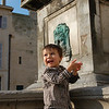 At a fountain in Arles