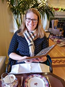 Tea menu at Victoria Afternoon Tea at the Fairmont Empress