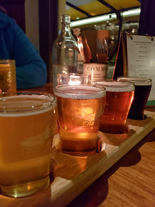 Beer flight at 10 acres Commons in Victoria