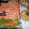 Always a good supply of shrimp and salmon. Plus baklavas in background.