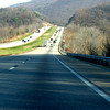 Central Pennsylvania. Bigger mountains and miles and miles of roads like this, To Connecticut, you drive 300 miles on Interstate 80---sometimes boring, but scenic at times.