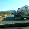 A patriotic truck driver in Eastern PA. Beautiful Fall Day.