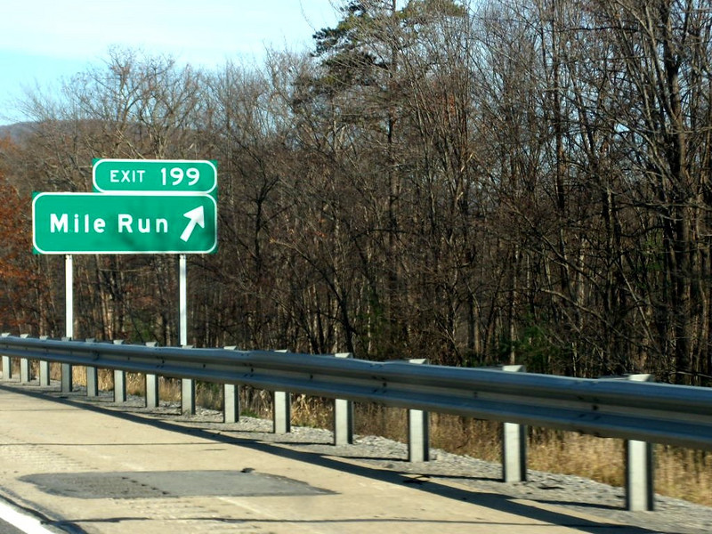 Always enjoy seeing this sign. Mile marker 199 on I-80.