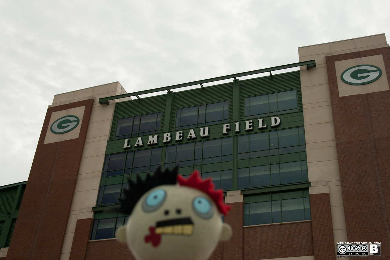 Zombie outside of Lambeau Field