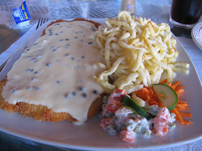 Yes, it IS all about the food... Peppercorn schnitzel at The Schnitzel House