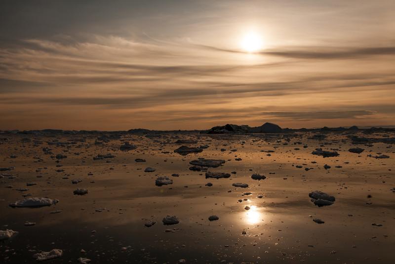 Evening ice at Ilulissat, Greenland
