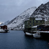 First snow in Nyksund, oct 2012 - the harbour