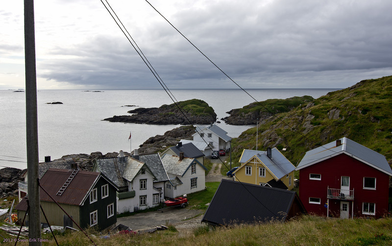 Vestervika, the westernmost house group in Nyksund